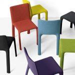 Stuhl Joko (auch als Hocker), Design: Bartoli Design