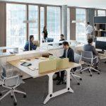 Schreibtisch unit, mit Sichtschutz (Design: Kinzo Berlin)