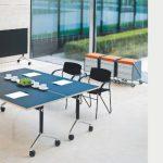 Schreibtisch LET'S TALK FLIP, klappbar, auf Rollen