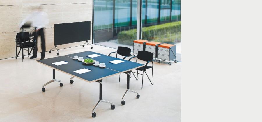 Schreibtisch LETu0027S TALK FLIP Schreibtisch LETu0027S TALK FLIP, Klappbar, Auf  Rollen