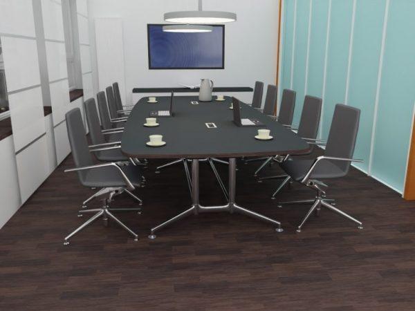 Konferenz 3D10 mit Lederstuhl Sevilla Farbe 6 2292
